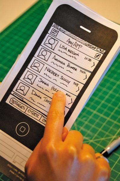 iphone paper prototype