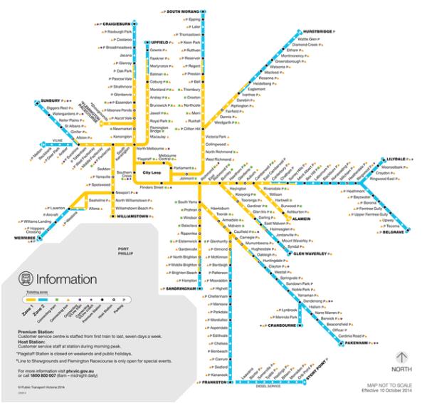 Melbourne metro map